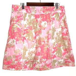 Ann Taylor Loft Pink Floral A-line Skirt